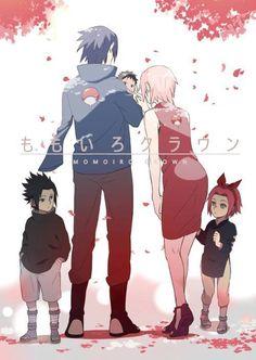 Cute Sakura and Sasuke SasuSaku Anime Naruto, Naruto Uzumaki, Naruto Cute, Manga Anime, Inojin, Shikatema, Naruhina, Sakura Haruno, Sasuke Sakura Sarada