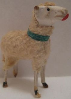 Old German Wooly Sheep for Christmas Putz $32