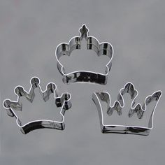 3PCS Crown Party Special Baking Cookie Cutter Set
