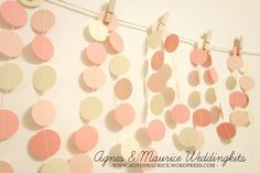 80 inches long The Wedding Party Garland  Wedding by AgnesMaurice, $15.80