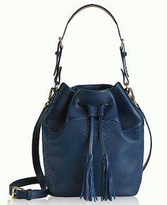 789e55b834c Navy blue bucket bag Pink Fashion, Womens Fashion, Python, Purses, Fashion  Trends
