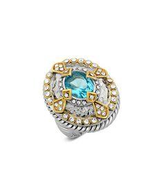 Look at this #zulilyfind! Aqua Cubic Zirconia Arrow Oval Ring #zulilyfinds