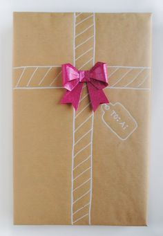Gift Wrap with Origami Details