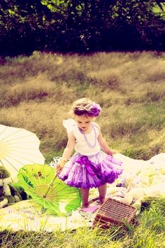Look at the colors! And the little girl! Such a cute idea and props!