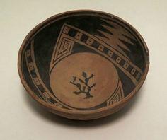 "Very Rare Casas Grandes Bowl, Prehistoric Period, 1060-1340 AD. Diam 7"". Courtesy of Philip Suval Inc."