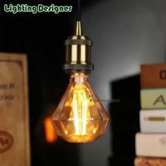 [ 22% OFF ] Led Edison Light Bulb Pendant Lamp Diamond Glass Shape 220V 4W Stylish Decor Bulb Diy Lamp Led Vintage Lamp Bulb For Home Decor