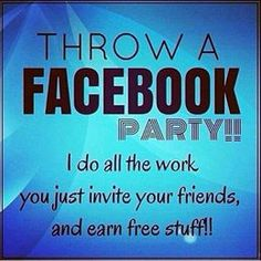 Throw a Facebook party! Contact me for details at YouniqueLashesByAnna@gmail.com