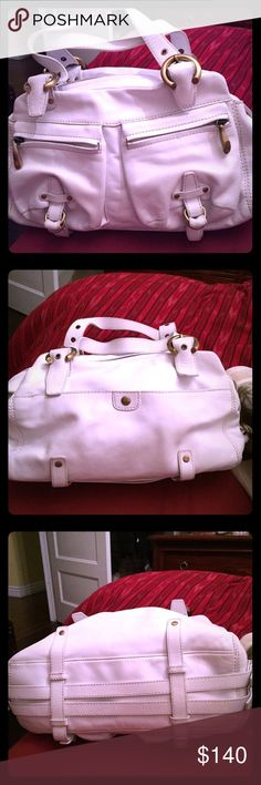 White almost new perfect summer purse Perfect purse from designer Francisco Biasia. Measures  14 x 4 x 8. Perfect for summer. Hardly worn. Looks like Michael Kors. Brand used only for exposure Michael Kors Bags
