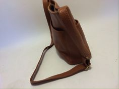 Coach Bag Leather Purse Sadle Brow Leather Coach by ThePantages