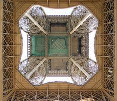 Eiffel tower - From below by Kel Patolog, via Flickr