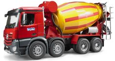 Bruder Toys MB Arocs Cement Mixer Kids Play Toy Truck Power, ruggedness and efficiency are paramount every day while driving on the road or working at the construction site. Mercedes-Benz developed Ar