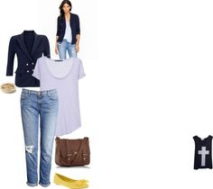 """blazer and jeans"" by cmerrilltaylor on Polyvore"
