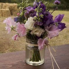 Jam jar flowers.....love!!