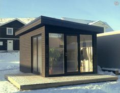 Funkis, Friggebod, 15m2 Small Summer House, Cottage In The Woods, Beautiful Buildings, Outdoor Projects, Colorful Interiors, Studio, Outdoor Living, Backyard, Stockholm