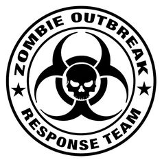 Zombie Outbreak Response Team Die Cut Vinyl Decal PV683