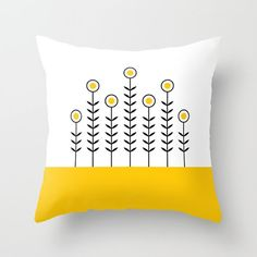 36 colours SPRING SHOOTS Minimalist Flowers by ThingsThatSing