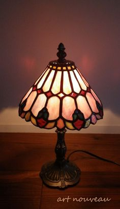 23image Stained Glass Lamps, Leaded Glass, Small Lamp Shades, Glass Shades, Mosaic Designs, Glass Design, Art Nouveau, Table Lamp, Lights