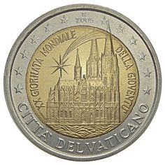 euro World Youth Day, held in Cologne in August 2005 - 2005 - Series: Commemorative 2 euro coins - Vatican City Piece Euro, Visiting The Vatican, World Youth Day, Money Notes, Coins Worth Money, Valuable Coins, Euro Coins, Coin Worth, Commemorative Coins