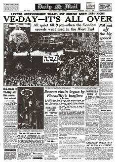 Remembered: How the Daily Mail marked the end of the Second World War in Europe after Germany surrendered to the Allies