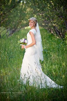 Beautiful background for bridal portrait