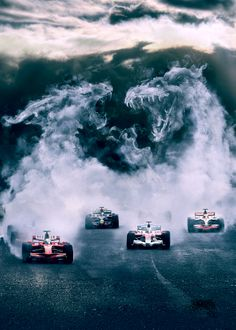 F1. race at an exotic location!! Okay it's not real, but this is a great piece of art.