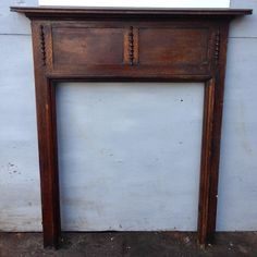 A charming, original 1920s mantelpiece in solid oak for sale on SalvoWEB from V&V Reclamation in Hertfordshire [Salvo code dealer