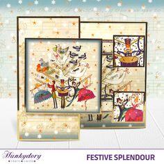 Festive Splendour - Hunkydory | Hunkydory Crafts Christmas Cards 2017, Christmas 2015, Xmas Cards, Hunkydory Crafts, Christmas Inspiration, Cardmaking, Festive, Vintage World Maps, Hunky Dory