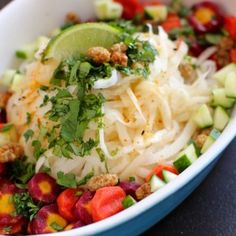Daikon Noodle Salad with Ginger Lime Dressing & Mulberries  Love-fed.com (Raw/Vegan/Dinner/Lunch)