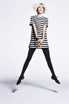Kate Spade New York dress, $398, nordstrom.com; Chanel bracelet, $1,850, Nordstrom, 800-695-8000; Wolford tights, $55, nordstrom.com; Jimmy Choo shoes, $795, jimmychoo.com.    - HarpersBAZAAR.com
