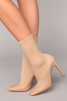Can You Say Sleek Bootie - Nude - Daily Fashion Nude Boots, Sexy Boots, Fashion Nova Shoes, Sneaker Heels, Sneakers, Daily Fashion, Stiletto Heels, Peep Toe, Tennis Outfits