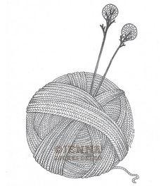 Yarn ball, via Flickr.