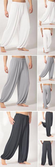 Mens Loose Yoga Pants / Morning Practice Sports Pants