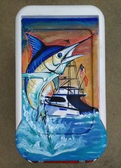 Guy Harvey painted cooler
