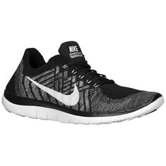 Nike Free 4.0 Flyknit 2015 - Womens - Running - Shoes - Black/Wolf Grey