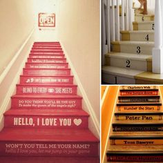 If I ever end up with stairs again, this is a cool idea to spice up your stair climb!
