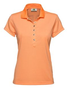 #Holiday Marie Mandarine Polo Shirt A traditional quick dry polo with a classic look on the front and a modest mesh #DailySports logo on the back. #GolfWear