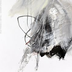 """sandersteins:  """"Today I am in a more expressive mood. This is a detail of a series of 3 paintings on paper""""Wild Things 3 -detail- (mixed media on 32x41cm on fine art paper) / ©Sander Steins - www.sandersteins.com 