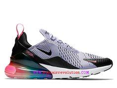 check out e6ee8 435da Chaussures Nike Air Max 270 Gs Coussin Dair Classique Pas Cher Prix Femme Violet  Noir Blanc