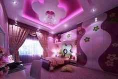 Teen girl bedrooms, grab this trick for a total imagininative bedroom decor, make-over number 5284871686 Purple Bedrooms, Teen Girl Bedrooms, Ceiling Decor, Ceiling Design, Dream Rooms, Dream Bedroom, Plafond Design, Zeina, Little Girl Rooms