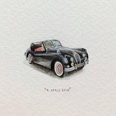 8 April 2014, day 98 1956 Jaguar XK 140 by Lorraine Loots