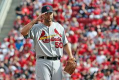 Cardinals take on the Reds Opening Day in Cincinnati.  Adam Wainwright pitched a great game & the Cards won 1-0!