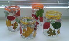 Školní hrátky: Tvořivky Autumn, Fall, Mason Jars, Crafts, Decor, Leaves, Creative, Decorating, Manualidades