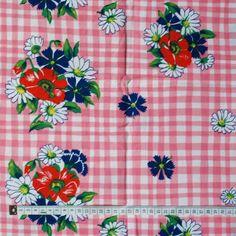 SALE - Seventies vintage floral fabric. $4,50, via Etsy.