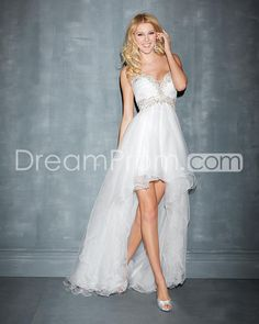 2014 Charming Sweetheart Sleeveless Asymetrical Tulle Prom Dresses