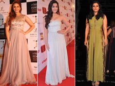 Bollywood Actresses in Long Cocktail Dresses