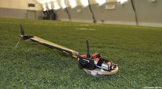 Lockheed Martin's Samarai UAV on a testing field.