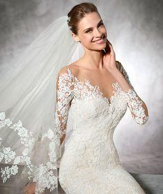 TIBET - Vestido de novia de corte bajo | Pronovias