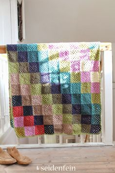 seidenfeins Dekoblog: Grannydecke old america * granny blanket
