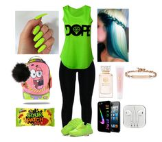 """""""DOPEE"""" by curlss-wavyy-sexy on Polyvore featuring NIKE, Tory Burch, Lancôme, Hoorsenbuhs, women's clothing, women, female, woman, misses and juniors"""