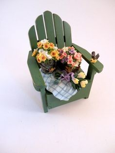 "San Francisco Music Box Adirondack Beach Chair Spring Flowers ""My Favorite Thing #SanFranciscoMusicBox #AdriondackBeachChair"